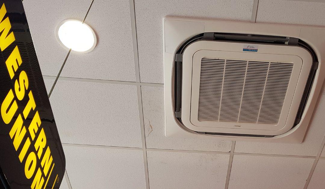 Climatisation dans une boutique