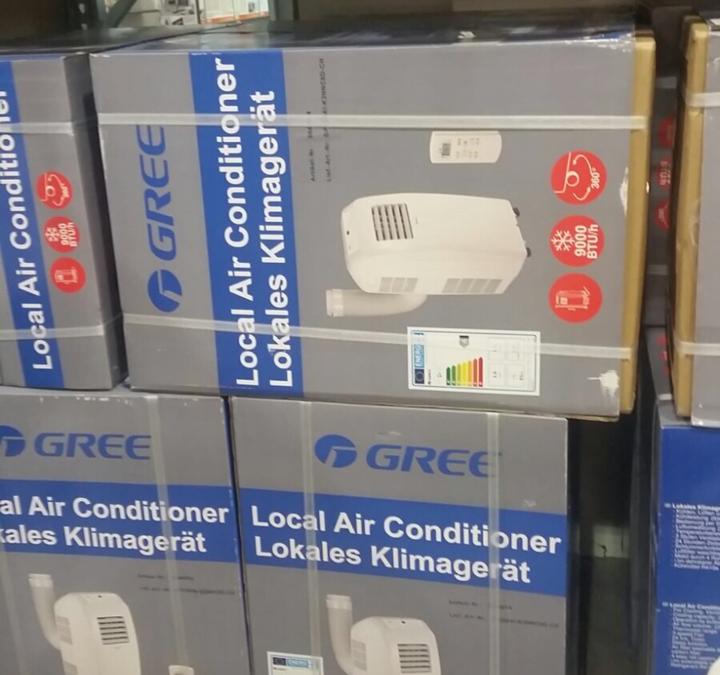 Pas de climatiseur mobile à l'horizontal !