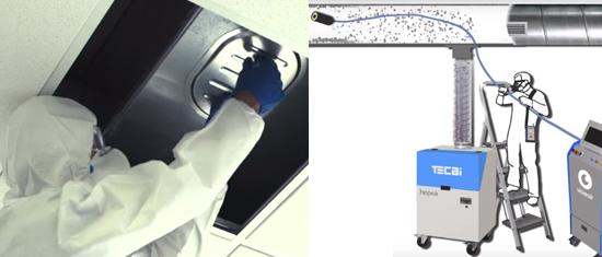 Nettoyage des gaines de ventilation