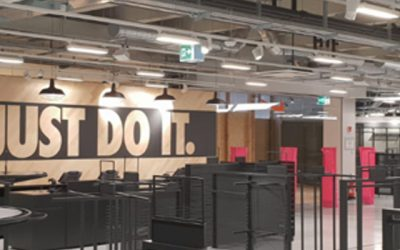 Aménagement du Nike Factory Store à Aubonne